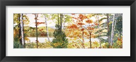 Framed Autumn Lake III
