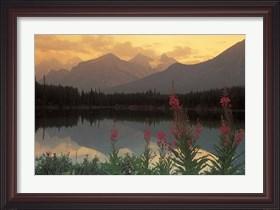 Framed Alberta, Banff, Lake Herbert, Canadian Rockies