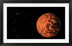 Framed Artist's Concept of an Exoplanet Known as UCF-101, Orbiting a Star called GJ 436