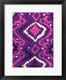 Framed Pink & Purple Pattern