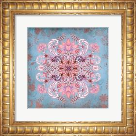Framed Floral Fractal I Boho
