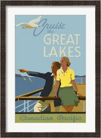 Framed Couple, Cruise the Great Lakes Canadian Pacific