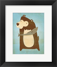 Framed Happy Bear