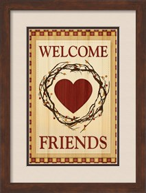 Framed Welcome Friends