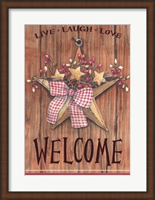 Framed Country Star Welcome