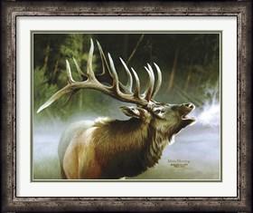 Framed Elk In Mist