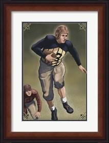 Framed Vintage Football 3