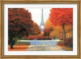 Framed Autumn in Paris Couple