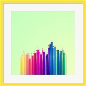 Framed Candy-Colored Pencils