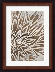 Framed Barnwood Bloom II - Metallic Foil
