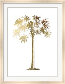Framed Gold Foil Tropical Palm I- Metallic Foil