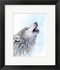 Framed Howling Wolf