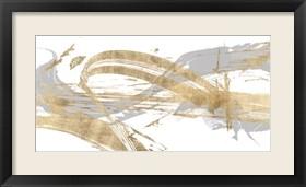Framed Gold & Grey I