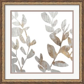 Framed Marble Foliage I