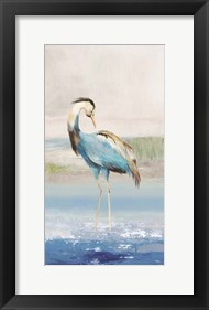 Framed Heron on the Beach I