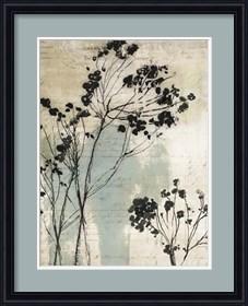 Framed Inky Floral I