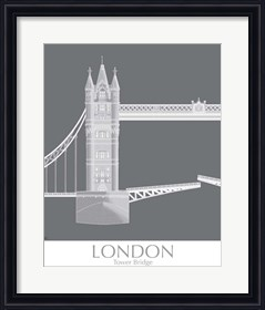 Framed London Tower Bridge Monochrome