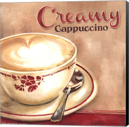 Framed Creamy Cappuccino Print
