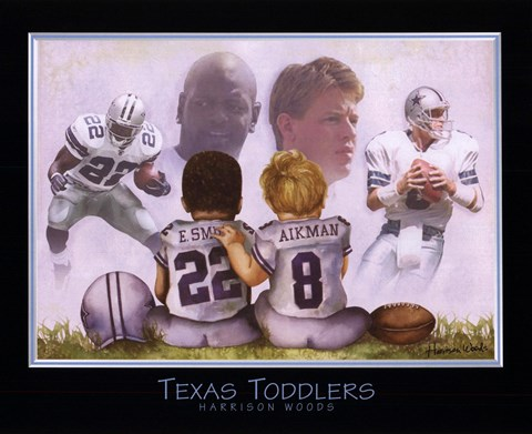 Framed Texas Toddlers Print