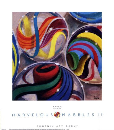 Framed Marvelous Marbles II Print