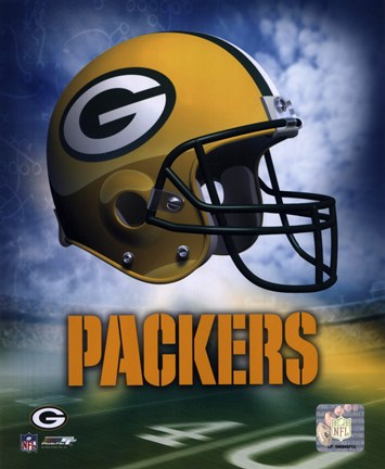 Green Bay Packers Helmet Logo Poster By Unknown At Framedart Com