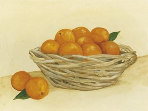 Framed Basket Of Oranges Print