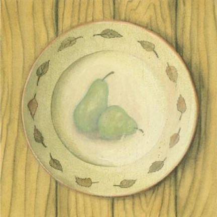 Framed Plate With Pears Print