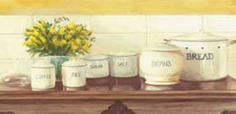 Framed Canisters On Table Print
