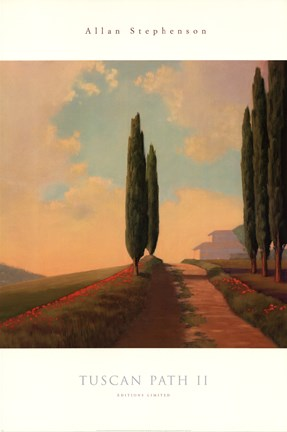 Framed Tuscan Path II Print