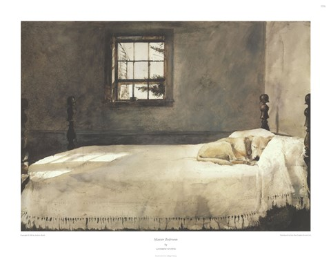 master bedroom c 1965 painting by andrew wyeth at 13884 | awaaqahq p27789