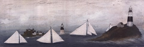 Sailing Ships Ii Artwork By David Carter Brown At