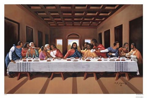 Last Supper Black Artwork By Hulis Mavruk At Framedartcom