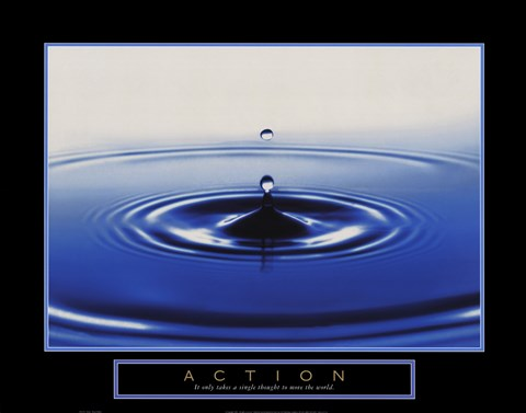 Framed Action - Drop Of Water Print