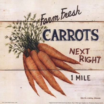 Framed Farm Fresh Carrots Print