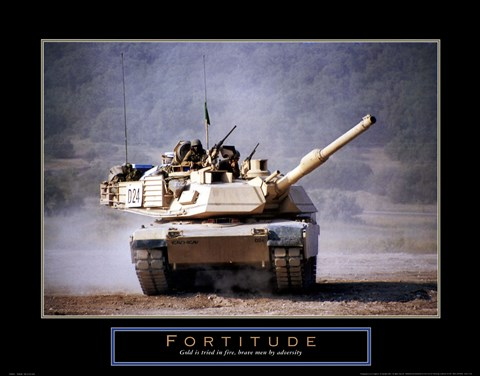 Framed Fortitude - Tank On The Move Print