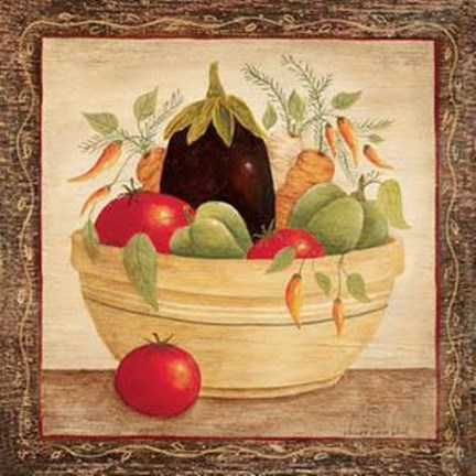 Framed Vegetable Bowl II Print