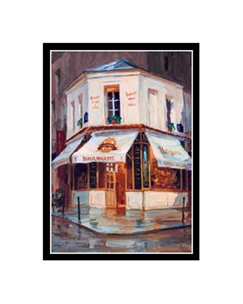 Framed Bake Shop In The Rain, Paris Print