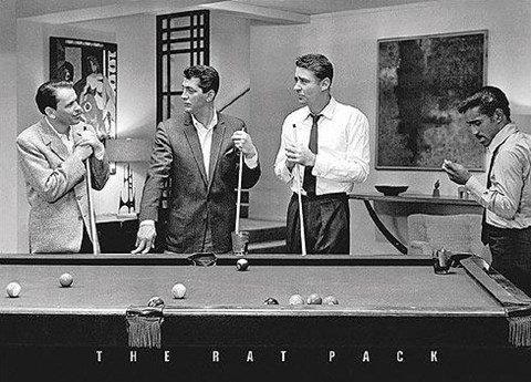 Framed Rat Pack - Shooting Pool Print