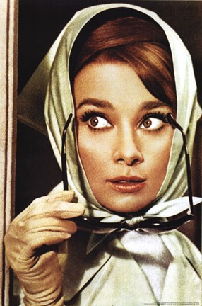 Framed Audrey Hepburn - Color Print