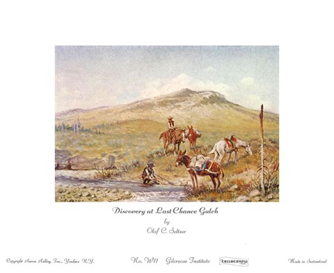 Framed Discovery Last Chance Gulch Print