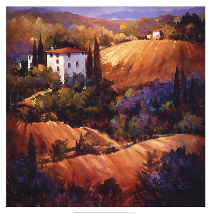 Framed Evening Glow Tuscany Print