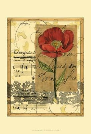 Framed Small Poppy Melody I Print