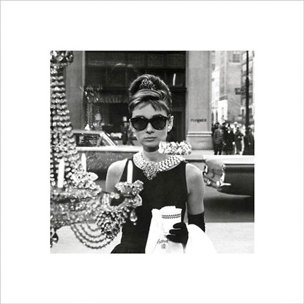 Framed Audrey Hepburn – Window Print