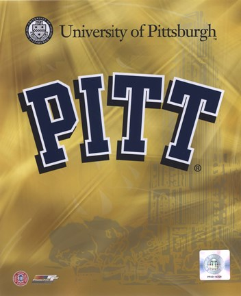 Framed University of Pittsburgh Panthers 2008 Logo Print