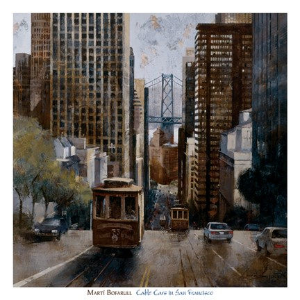 Framed Cable Cars in San Francisco Print