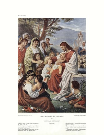 Framed Jesus Blessing the Children Print