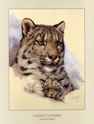 Framed Snow Leopard Print
