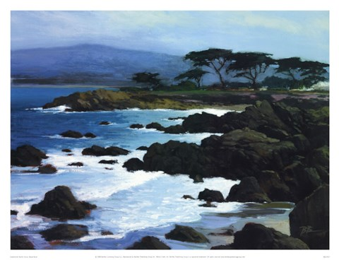 Framed Coastline At Pacific Grove Print