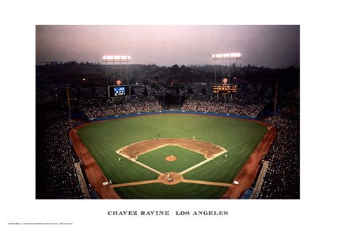 Framed Chavez Ravine, Los Angeles Print