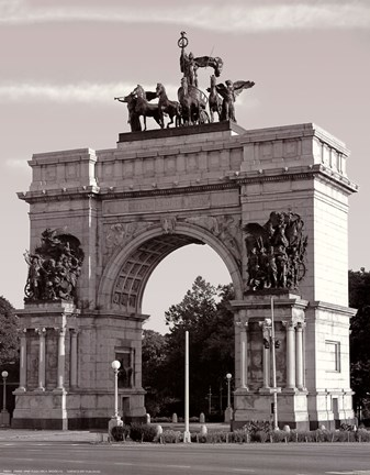 Framed Grand Army Plaza Arch, Brooklyn Print